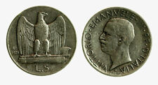 pci3956) Vittorio Emanuele III  (1901-1943) 5 lire aquilino 1928