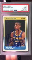 1988-89 Fleer #57 Reggie Miller ROOKIE RC AUTO Autograph Graded Card PSA PSA/DNA