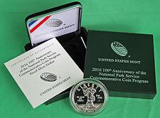 2016 100th Anniv National Park Service Proof Silver Dollar US Mint Box + COA $1