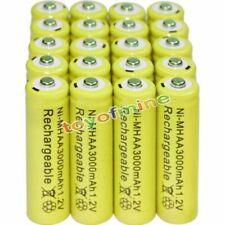 20X AA 3000mah 2a 1.2v Ni-MH Wiederaufladbare NH-AA Zelle Akku Batterien-Gelb