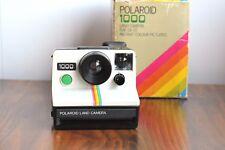 Retro Funky POLAROID 1000 LAND Instant Film ,  Signature Rainbow stripe!  w/ Box