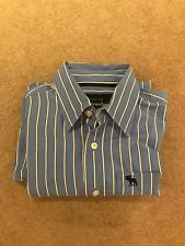 Blue And White Striped Abercrombie And Fitch Boys Shirt Size XL/Mens Small 9/10
