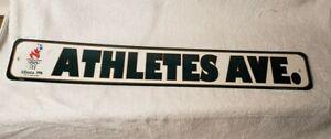 1996 Olympic Athletes Ave Road Sign Atlanta Green wall Pennant