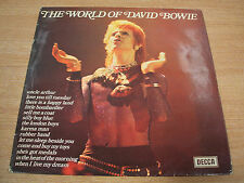 the world of david bowie 1973  uk issue early  vinyl compilation lp    ex ex