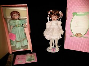 "Paradise Galleries Shannon the Shamrock Fairy 14"" Porcelain Doll and Doll Lot"