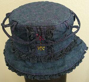 Girls Toddler Denim Summer Bucket Sun Hat / 4 Colors to choose (New)