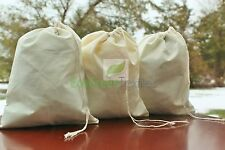 8x12 inch Cotton Muslin Bags * EXCELLENT QUALITY*  Quantity- 50