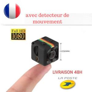 Mini Camera Espion FULL HD de Vision Nocturne Surveillence Detecteur mouvement