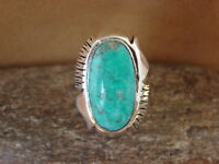 Native American Jewelry Sterling Silver Turquoise Ring! Size 9 - Jake