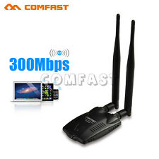 300Mbps High Power USB WiFi Wireless Adapter LAN Network Dongle 802.11B/G/N US
