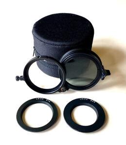 Leica Universal Polarizing Filter M #13356 w/ E39 & E46 Rings + Leather Case