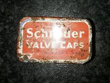 schrader valve caps tin collectable automobilia