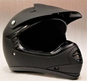 Motocross Helmet Kids, Youth, S to XL, Matte black, Aust. Std, Dirt bike, quad