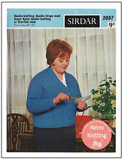 1960s Plus Size Cardigan Tejer patrón-copia