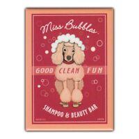 Retro Pets Refrigerator Magnet - Miss Bubbles Shampoo & Beauty Bar, Poodle