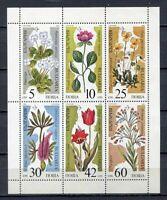 33664) Bulgaria 1989 MNH Flowers Ms Scott# 3397a