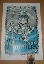 Avett Brothers St Louis Dig My Chili Poster Print Blue Variant Signed Numbered