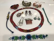 STERLING SILVER NATIVE SOUTHWESTERN JEWELRY LOT INCLUDES beaded jewelry