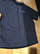 Under Armour Loose Fit Mens Blue Short Sleeve Activewear Shirt, Size XL