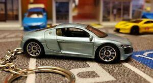 Audi R8 Keyring , Keychain, Key Fob, Blue