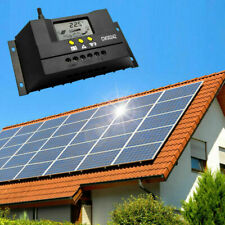 12V/24V Solar Panel Battery Regulator Charge Controller 30A PWM LCD Display
