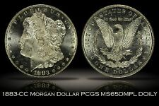 1883-CC Morgan Silver Dollar PCGS MS65DMPL Doily Label OGH Deep Mirror Prooflike