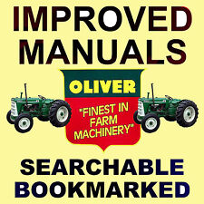 Oliver Tractors 1550, 1555, 1600, 1650, 1655 SERVICE SHOP REPAIR MANUAL CD
