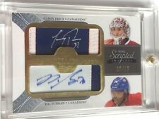 2011-12 UD The Cup Dual Scripted Swatches Auto CAREY PRICE / P.K. SUBBAN # 15/15