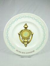 Avon Wedgewood 2nd Anniversary Plate The Door Knocker Commemorative Award NWB