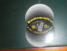 Adesivo radio Quattro FM 103,1 FM 102,1