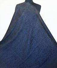 Large, Black, Silk & Wool, Jamavar, Paisley Shawl. Jacquard, Jamawar Stole