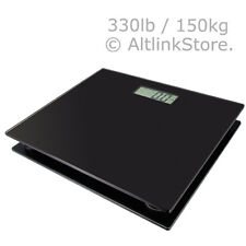 SAGA 330lb x 0.1lb Digital Bathroom Scale Glass Fitness Weight Body With LCD