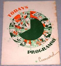 MARITIME : Cunard (Queen Mary) Programme 26.04.1954