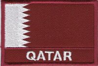 Stemma Toppa Ricamata Toppa Bandiera Qatar Dimensioni 7 x 5 CM