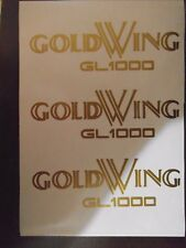 3 x Honda Goldwing 1000 decals/stickers