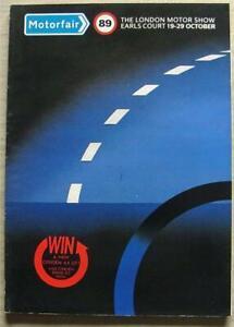 EARLS COURT MOTORFAIR 19-29 Oct 1989 Motor Car Show Official Catalogue