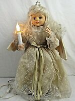 """Vintage Motionettes Animated Christmas Angel with Light 24""""  VIDEO"""