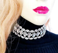 Rhinestone Choker Necklace Collar