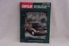 CHRYSLER FRONT WHEEL DRIVE CARS 4-CYL REPAIR MANUAL / 1981-95 / CHILTON'S