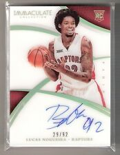 Lucas Nogueira 14/15 Immaculate Auto RC Rookie #143 SN #29/92
