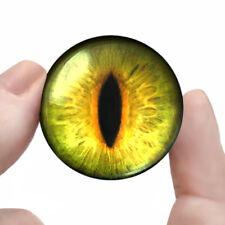 """30mm Green Futuristic Slit Eyeballs Sci-fi Fantasy Taxidermy Glass Eye 1.2"""" Inch"""