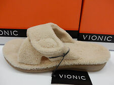 VIONIC WOMENS SLIPPERS RELAX TAN SIZE 11