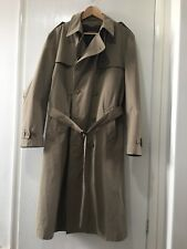 Mens Rain Coat Full Length Trench Coat Shower Proof Marks and Spencers