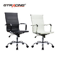 GTRACING Adjustable Office Executive Chair Computer Desk High Back Leather Seat