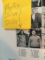 "PHYLLIS DILLER 1934 (MAIDEN NAME ""DRIVER"") HIGH SCHOOL YEARBOOK (JUNIOR YEAR)!!!"