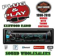 PLUG AND PLAY HARLEY KENWOOD KDC-BT362U CD BLUETOOTH RADIO STEREO ADAPTER KIT