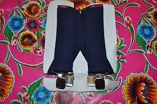 "Vintage Extra wide 2"" blue gentleman's braces suspenders clip fastening"