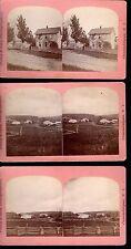 RARE Oversized Stereoview Photo LOT of 9 - Canandaigua Lake NY area ca 1880