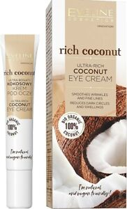 Eveline Rich Coconut Eye Cream Reduces Dark Circles Smoothes Firming 20 ml