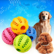 Pet Dog Puppy Cat Training Dental Toy Rubber Ball Chew Treat Dispensing Holder